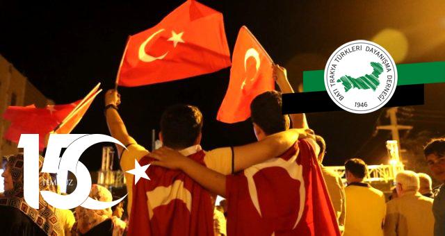 15 Temmuz Demokrasi Mücadelesi Veren Kahramanların Günü
