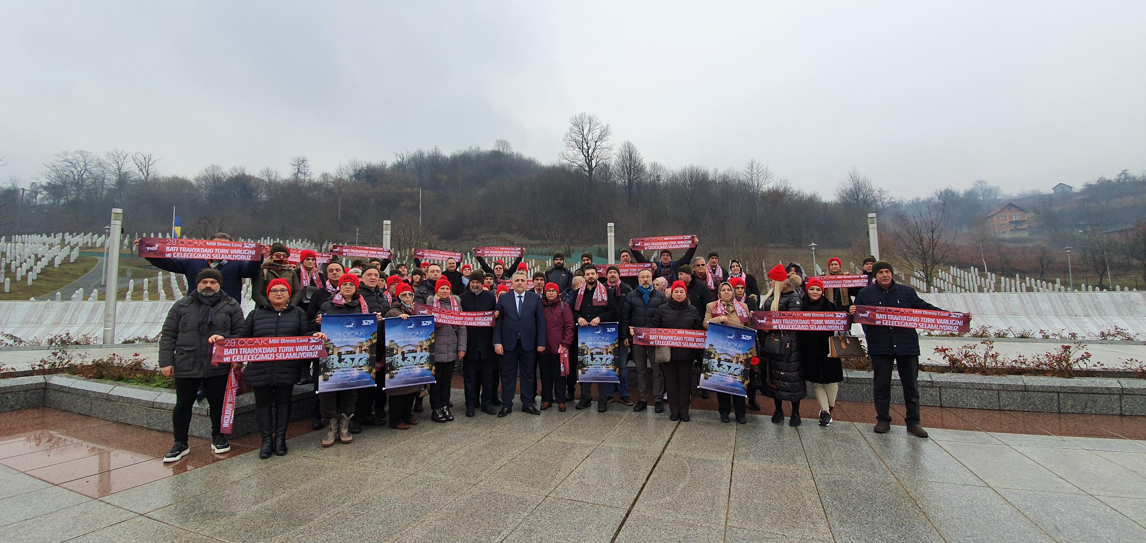 29 Ocak Milli Direniş Günü Srebrenitsa'da Anıldı