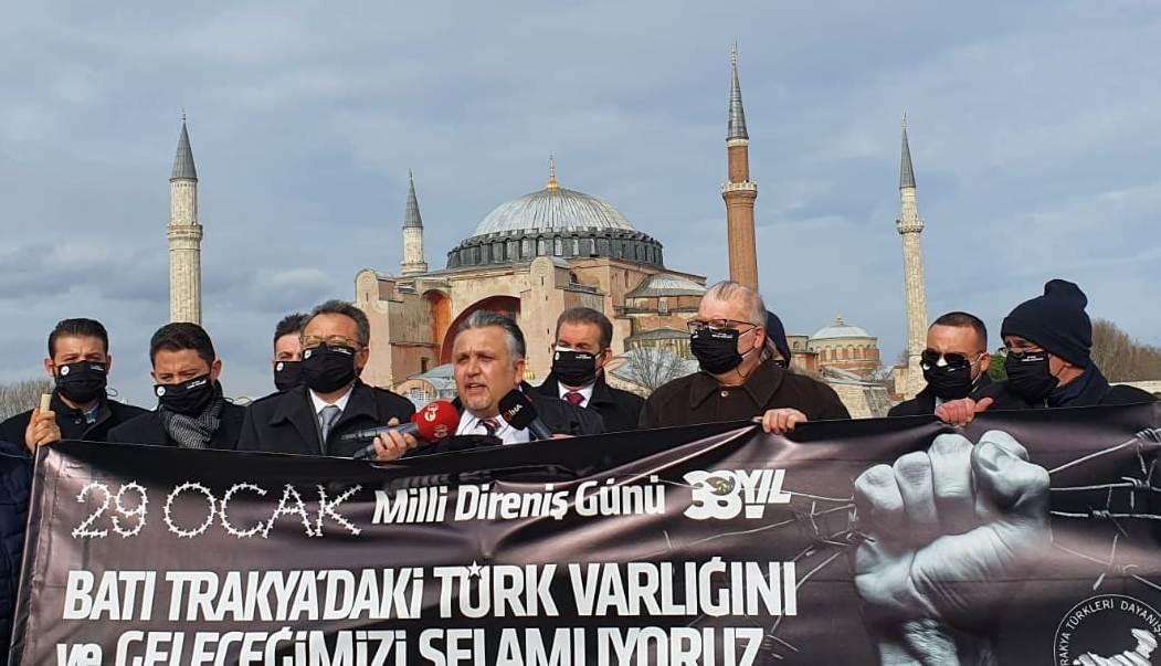 29 Ocak Milli Direniş Günü Sesimizi Ayasofya'dan Duyurduk