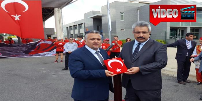 Atatürk'ü Anma ve Barış Koşusu İpsala Toprak Teslim Töreni