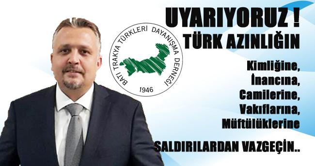 Türk Azınlığa Karşı Saldırılara Son Verin