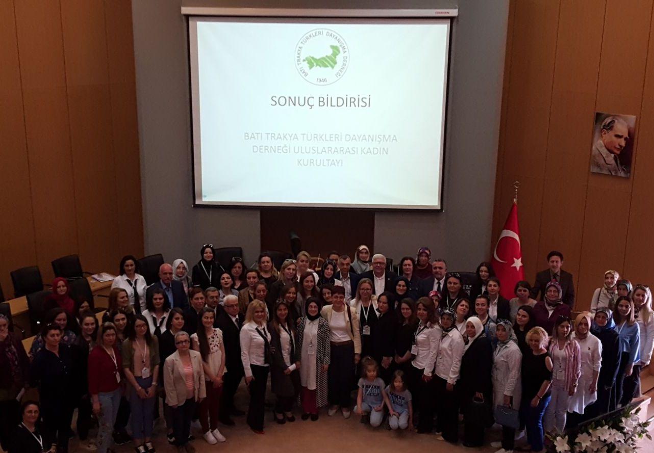 Batı Trakya Türkleri Uluslararası Kadın Kurultayı Gerçekleşti