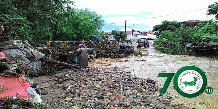 Batı Trakya'da Büyük Sel Felaketi