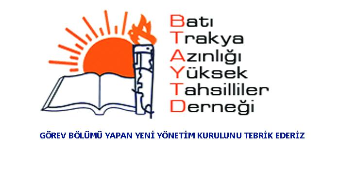 BTAYTD Yeni Yönetimini Tebrik Ederiz