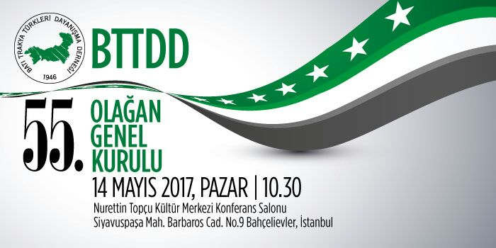BTTDD Genel Merkez 55. Olağan Genel Kurul İlanı