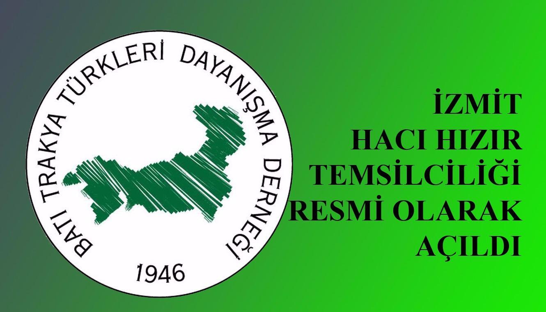 BTTDD İzmit Hacı Hızır Temsilciliği açıldı