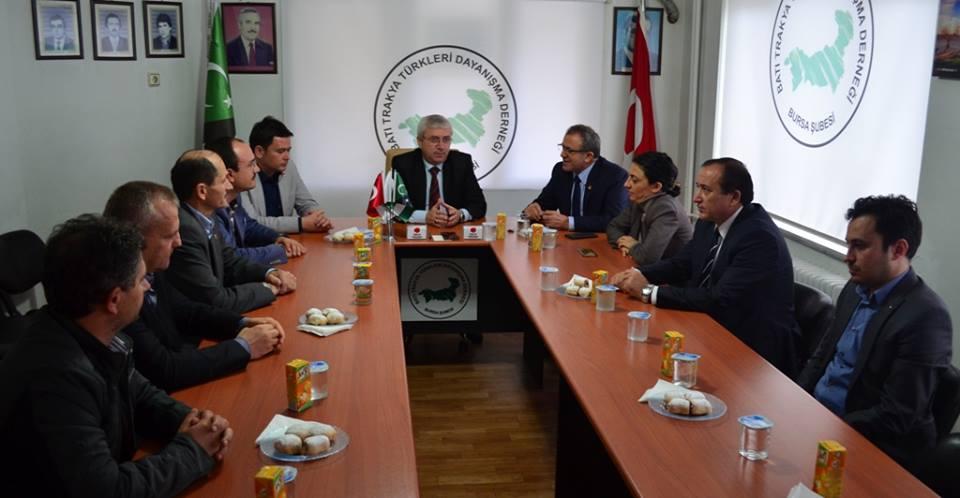 Bursa Şubemiz Cumhuriyet Halk Partisi Heyetini Ağırladı