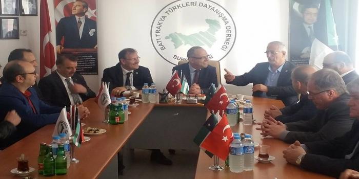 Bursa Şubemizi Ak Parti Milletvekilleri ve Yıldırım İlçe Teşkilatını Ağırladı