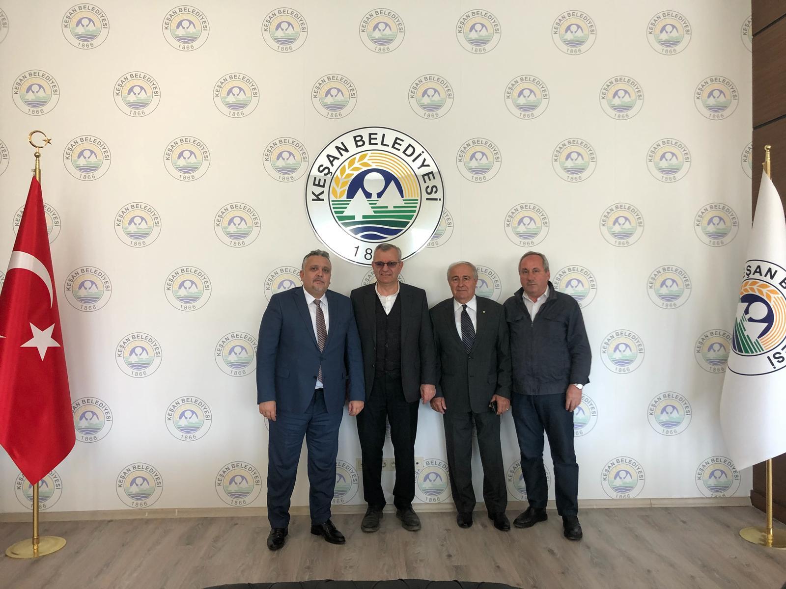 Genel Başkan Keşan Belediye Başkanını Makamında Ziyaret Etti