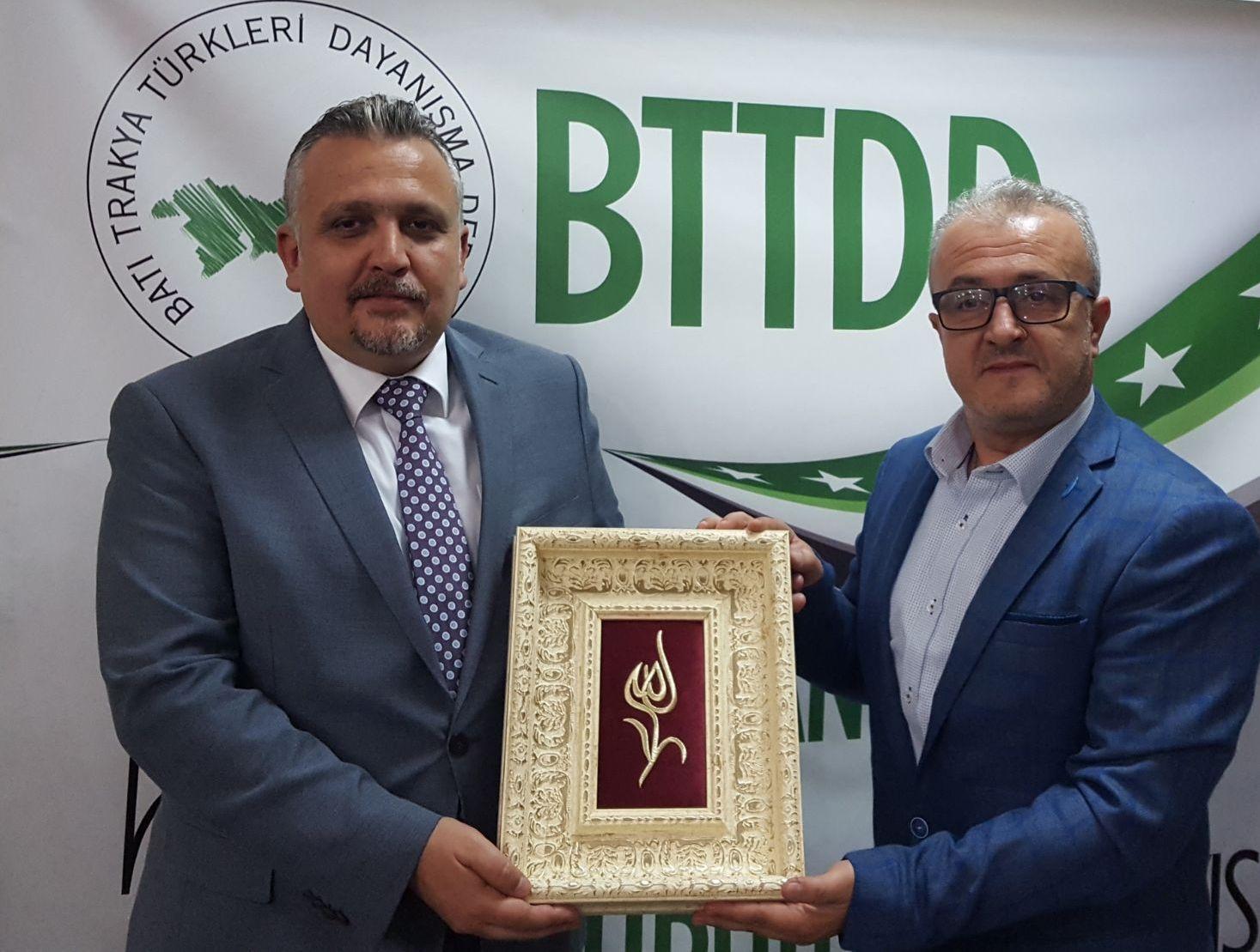 GTGB Başkanı Necat Ahmet'en Genel Merkeze Ziyaret