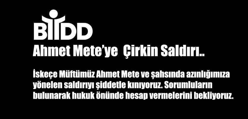 İskeçe Müftümüz Ahmet Mete'ye Çirkin Saldırı
