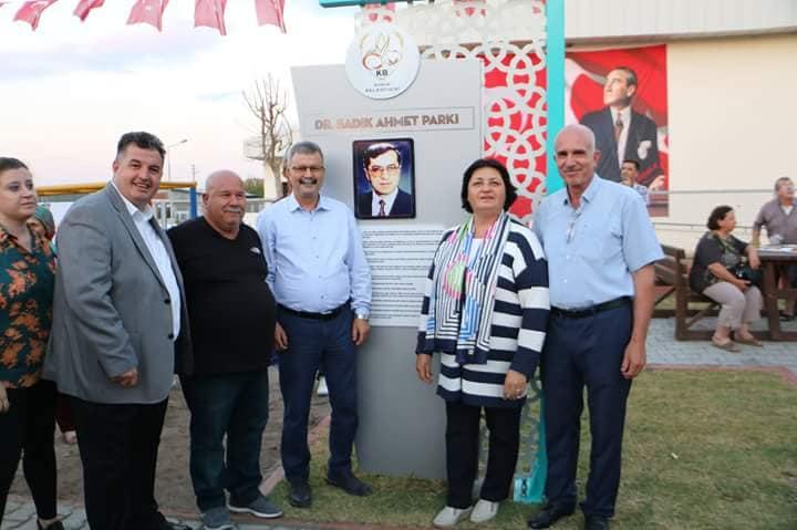 Kınık'ta Dr. Sadık Ahmet Parkı Açıldı