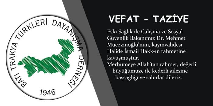 Mehmet Müezzinoğlu'nun Başı Sağolsun